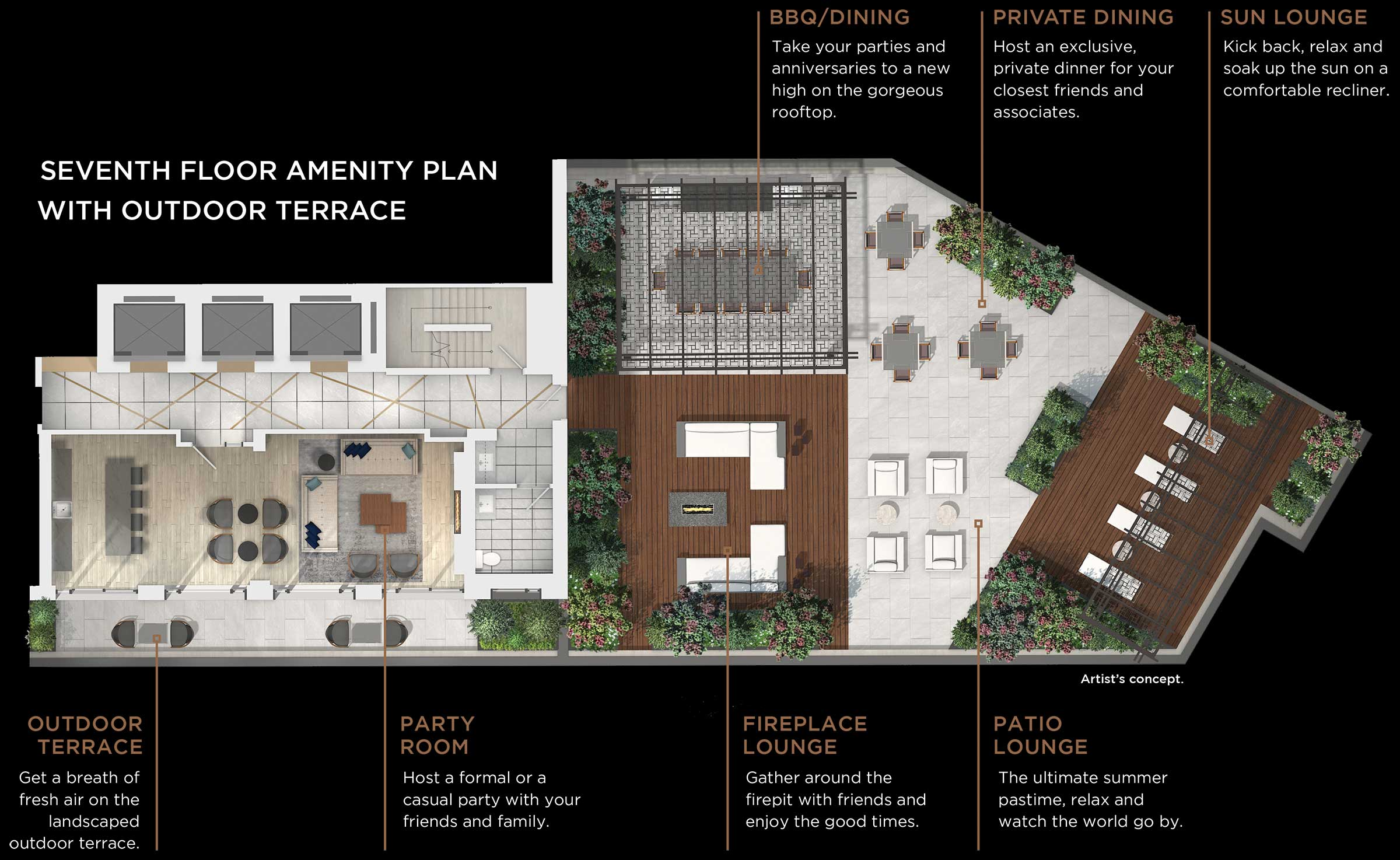 Seventh Floor Amenity Plan Without Terrace